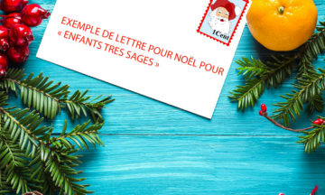 Exemple de lettre pour Noël pour « ENFANTS TRES SAGES »