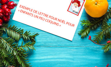 """Exemple de lettre pour Noël pour """"enfants un peu coquins"""""""