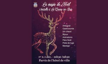 Samedi 1er et dimanche 2 décembre 2018 sur le parvis de l'hôtel de ville de La Queue-en-Brie