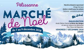 Marché de Noël 2018 de la Ville de Pélissanne.