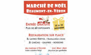 Marché de Noël de Beaumont-en-Veron – 22 et 23 Décembre 2018