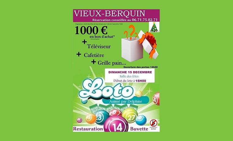 Le loto de Noel – Commune de Vieux-Berquin