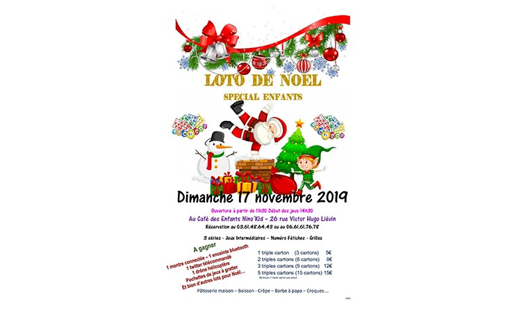 Loto de Noël – Spécial Enfants – Liévin